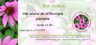 Bon cadeau réflexologie plantaire