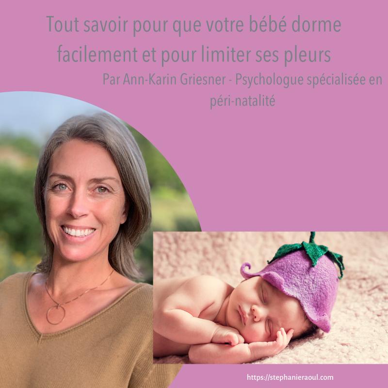Formation en ligne sommeil de bébé
